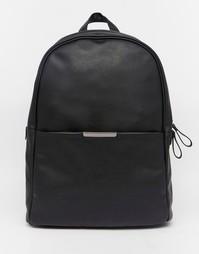 Рюкзак с металлической планкой ASOS - Черный