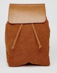 Рюкзак из искусственной замши с клапаном ASOS - Рыжий
