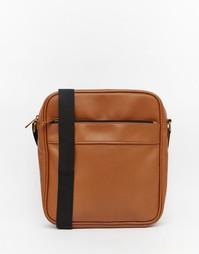 Небольшая коричневая сумка с молнией ASOS - Коричневый