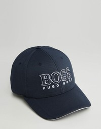 Бейсболка с логотипом Hugo Boss - Темно-синий