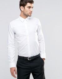 Белая строгая рубашка узкого кроя HUGO by Hugo Boss - Белый