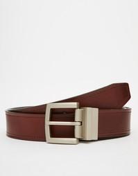 Двусторонний кожаный ремень Esprit - Коричневый