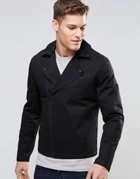 Черная хлопковая байкерская куртка ASOS - Черный