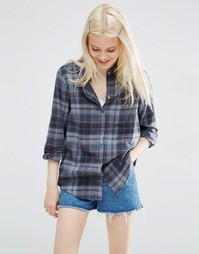 ASOS Oversized Check Shirt in Grey - Мульти