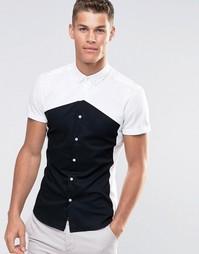Облегающая рубашка ASOS - Белый