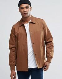 Светло-коричневая тренерская куртка из хлопка ASOS - Рыжий