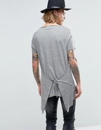 Длинная футболка ASOS - Серый grindle
