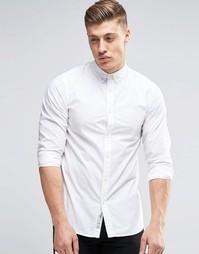 Рубашка узкого кроя с воротником на пуговицах Produkt - Белый