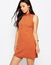 Платье с высокой горловиной Glamorous - Красно-бурый