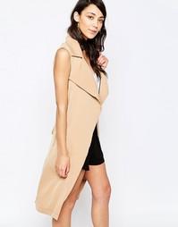 Куртка без рукавов с поясом Glamorous - Кэмел