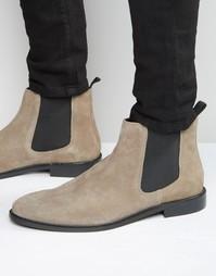 Замшевые ботинки челси Dune - Серый
