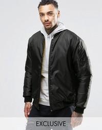 Двусторонняя куртка‑пилот Reclaimed Vintage MA1 - Черный