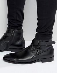 Кожаные ботинки с ремешком ALDO Farlow - Черный