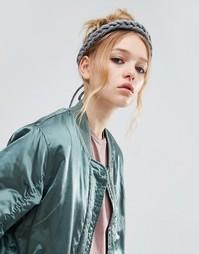 Трикотажная плетеная повязка на голову ограниченной серии - Серый Asos