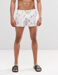 Короткие шорты с принтом кактусов Swells - Розовый