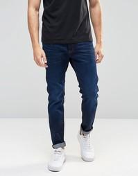 Темно-синие состаренные джинсы слим G‑Star 3301 - Состаренный синий