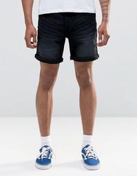 Черные джинсовые шорты Only & Sons - Черный