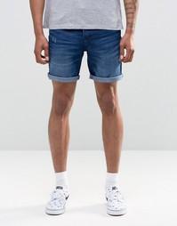 Синие джинсовые шорты Only & Sons - Синий