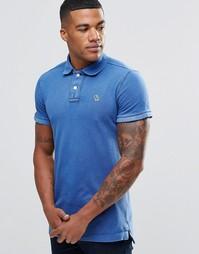 Голубая облегающая футболка-поло Abercrombie & Fitch Croquet - Голубой