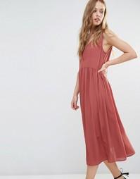 Свободное платье миди Y.A.S Vinc - Розовый