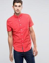 Рубашка зауженного кроя с короткими рукавами и принтом Abercrombie & F