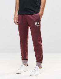 Меланжевые спортивные штаны цвета бордо Abercrombie & Fitch Af New Yor