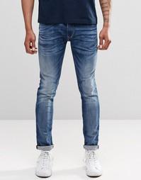 Суперэластичные выбеленные джинсы скинни в винтажном стиле Replay Jond