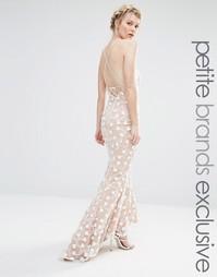 Кружевное платье макси с завязкой на шее и лямками на спине Jarlo Peti