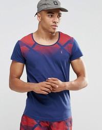 Пляжная футболка с овальным вырезом Ringspun Co-ord - Темно-синий
