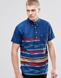 Рубашка слим через голову с короткими рукавами Hollister - Темно-синий