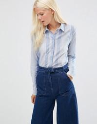 Рубашка в полоску Minimum Eleta - Умеренный синий
