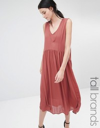 Oversize-платье миди с глубоким декольте Y.A.S Tall Vinc