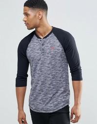 Серая футболка слим с рукавами 3/4 Hollister - Серый