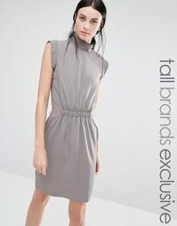 Платье-футляр с высокой горловиной и сборкой на талии Y.A.S Tall