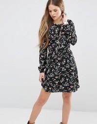 Платье с цветочным принтом Pepe Jeans Mabel - Черный 0aa
