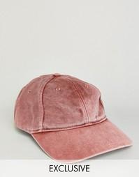 Выбеленная бейсболка цвета ржавчины Reclaimed Vintage - Красный