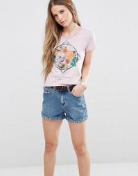 Футболка с розами Jeans Roxana - Розовый 319