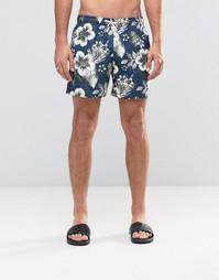 Шорты для плавания с цветочным принтом Abercrombie & Fitch - Черный