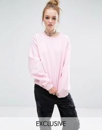 Oversize-свитшот бойфренда Reclaimed Vintage - Светло-розовый