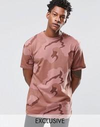 Камуфляжная oversize‑футболка Reclaimed Vintage - Розовый