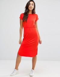 Приталенное платье‑футболка миди ASOS - Красный