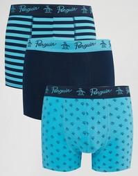 Комплект из 3 шортов-боксеров Original Penguin - Синий