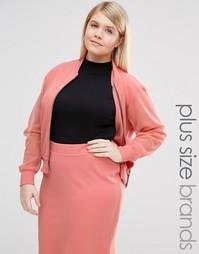 Куртка-пилот с прозрачными рукавами Pink Clove - Розовый