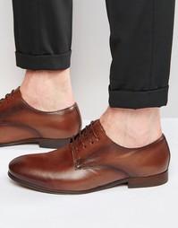 Кожаные туфли дерби Hudson London Champlain - Коричневый