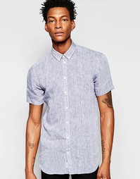 Рубашка на пуговицах с короткими рукавами Minimum - Темно-синий