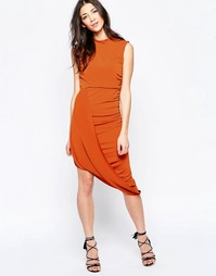 Платье с запахом на подоле Wal G - Красно-бурый