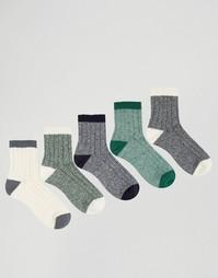Набор из 5 пар толстых носков ASOS