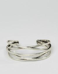 Серебристый браслет в несколько оборотов ASOS - Серебряный