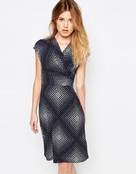Трикотажное платье в горошек Uttam Boutique - Темно-синий