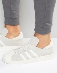 Кроссовки в стиле 80‑х с вязаной отделкой adidas Originals Superstar S